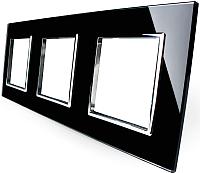 Рамка для выключателя Livolo BB-C7-SR/SR/SR-12 (черный) -
