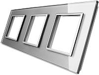 Рамка для выключателя Livolo BB-C7-SR/SR/SR-15 (серый) -