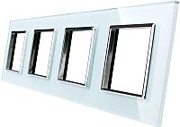 Рамка для выключателя Livolo BB-C7-SR/SR/SR/SR-11 (белый) -