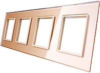 Рамка для выключателя Livolo BB-C7-SR/SR/SR/SR-13 (золото) -