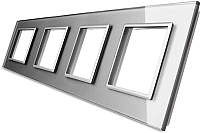 Рамка для выключателя Livolo BB-C7-SR/SR/SR/SR-15 (серый) -