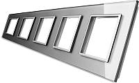 Рамка для выключателя Livolo BB-C7-SR/SR/SR/SR/SR-15 (серый) -