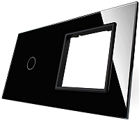 Лицевая панель комбинированная Livolo BB-C7-C1/SR-12 (черный) -