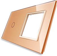 Лицевая панель комбинированная Livolo BB-C7-C1/SR-13 (золото) -