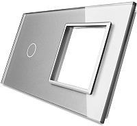 Лицевая панель комбинированная Livolo BB-C7-C1/SR-15 (серый) -