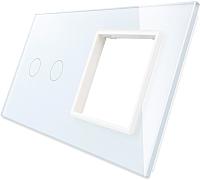 Лицевая панель комбинированная Livolo BB-C7-C2/SR-11 (белый) -