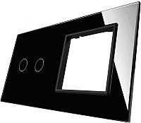 Лицевая панель комбинированная Livolo BB-C7-C2/SR-12 (черный) -