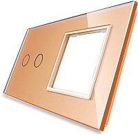 Лицевая панель комбинированная Livolo BB-C7-C2/SR-13 (золото) -
