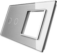 Лицевая панель комбинированная Livolo BB-C7-C2/SR-15 (серый) -