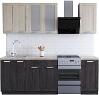 Готовая кухня Хоум Лайн Грация 1.7 (флитвуд серая лава/флитвуд белый) -
