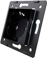 Розетка Livolo VL-C7-C1EU-12 (черный) -