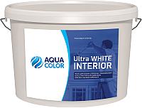 Краска AquaColor Ultra White Interior (14кг) -