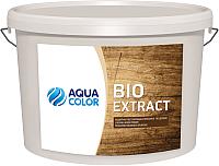 Защитно-декоративный состав AquaColor Bio Extract (10л, белый) -