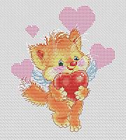 Набор для вышивания БЕЛОСНЕЖКА Котёнок с сердечком / 149-14 -