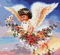 Набор для вышивания БЕЛОСНЕЖКА Ангел с голубем / 3992-14 -