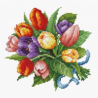 Набор для вышивания БЕЛОСНЕЖКА Тюльпаны / 6013-14 -