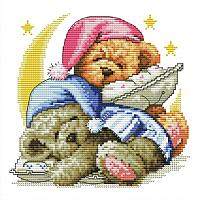 Набор для вышивания БЕЛОСНЕЖКА Два медвежонка / 776-14 -