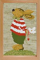 Набор для вышивания БЕЛОСНЕЖКА Мальчик Зайчик / 205-EF -