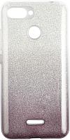 Чехол-накладка Case Brilliant Paper для Redmi 6 (серебристый/черный) -