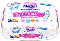 Влажные салфетки Merries В пластиковом контейнере (54шт) -