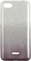 Чехол-накладка Case Brilliant Paper для Redmi 6A (серебристый/черный) -