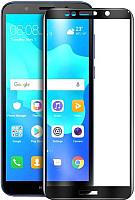 Защитное стекло для телефона Case Full Glue для Y5 Prime 2018 / Honor 7А (черный глянец) -