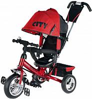 Детский велосипед с ручкой Trike City JD7RS (красный) -
