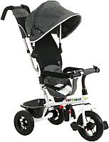 Детский велосипед с ручкой Babyhit Kids Tour XT (grey line) -