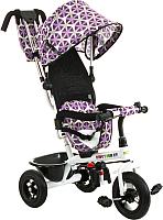Детский велосипед с ручкой Babyhit Kids Tour XT (white/violet) -
