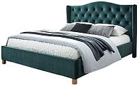 Двуспальная кровать Signal Aspen Velvet (зеленый) -
