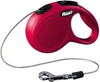 Поводок-рулетка Flexi New Classic трос / 11773 (XS, красный) -