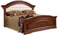 Двуспальная кровать ФорестДекоГрупп Любава 180 / СП007-07 (темный) -
