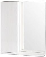 Шкаф с зеркалом для ванной СанитаМебель Ларч 11.600 (левый) -