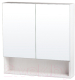 Шкаф с зеркалом для ванной СанитаМебель Ларч 11.700 -
