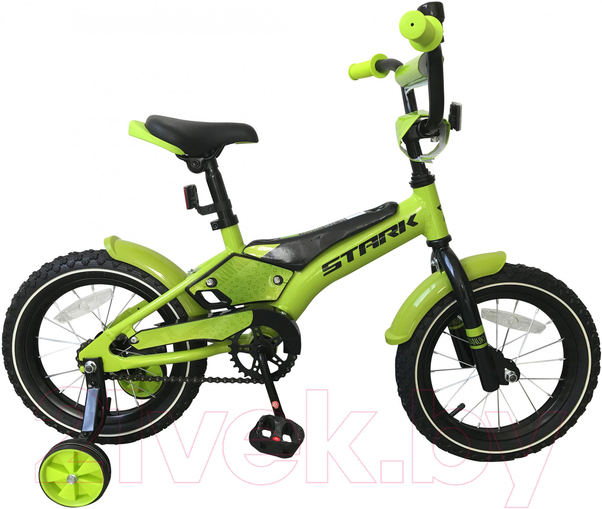 Купить Детский велосипед STARK, Tanuki 14 Boy 2019 (зеленый/черный), Россия