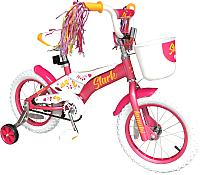 Детский велосипед STARK Tanuki 14 Girl 2019 (розовый/белый/желтый) -