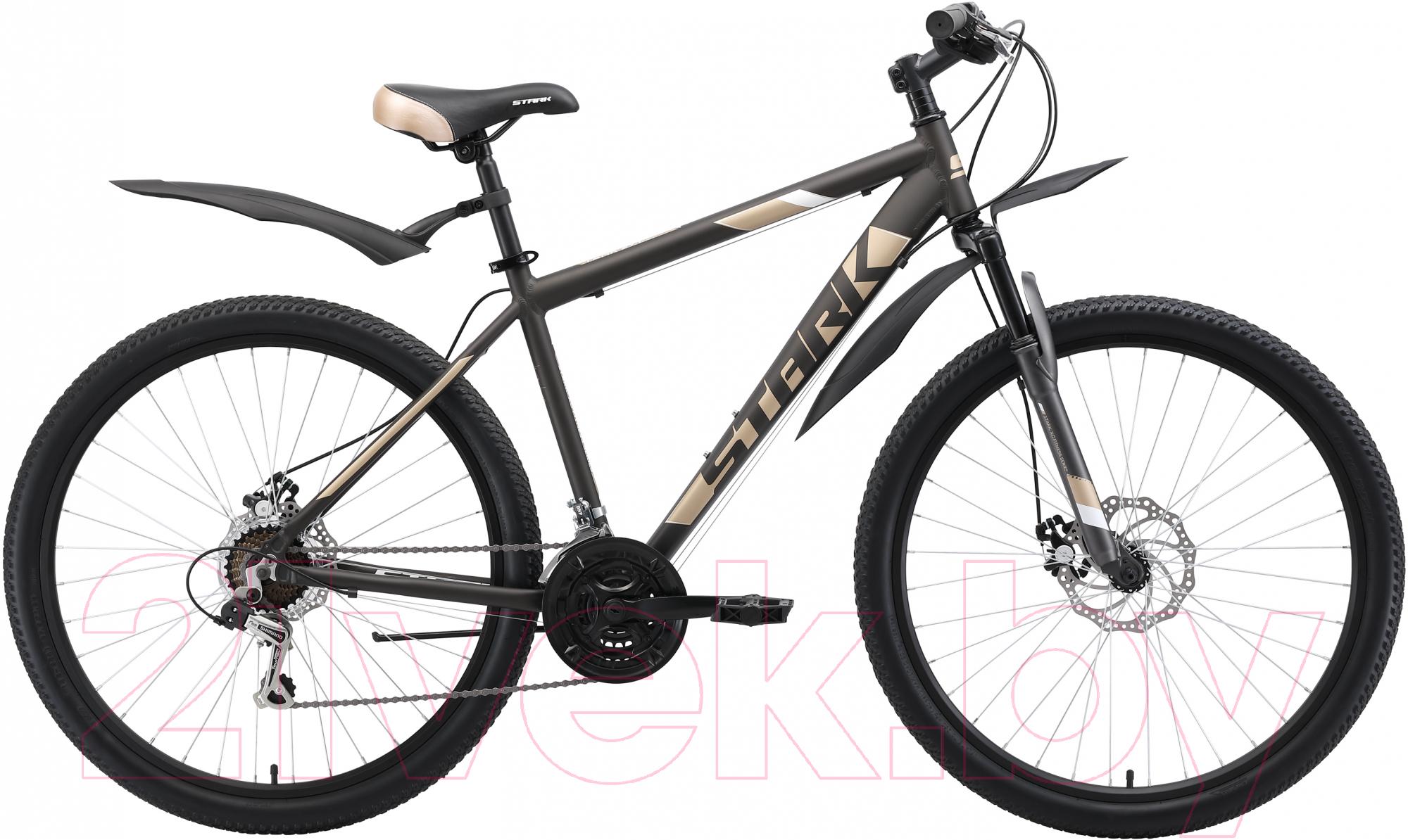 Купить Велосипед STARK, Tank 27.1 D 2019 (16, коричневый/кремовый/белый), Россия