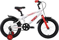 Детский велосипед STARK Foxy 16 2019 (белый/красный/серый) -