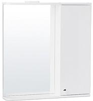 Шкаф с зеркалом для ванной СанитаМебель Камелия-11.70 Д2 (правый, белый) -