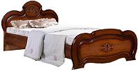 Полуторная кровать ФорестДекоГрупп Щара 120 / СП002-07 (орех) -