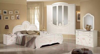 Двуспальная кровать ФорестДекоГрупп Щара 160 / СП002-05 (белый)
