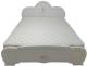 Двуспальная кровать ФорестДекоГрупп Щара 160 / СП002-05 (белый) -