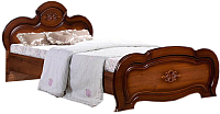 Двуспальная кровать ФорестДекоГрупп Щара 160 / СП002-05 (орех) -