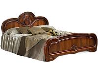Двуспальная кровать ФорестДекоГрупп Щара 180 / СП002-09 (орех) -