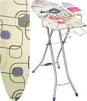 Гладильная доска Ника Белль Юниор 3 / БЮ3 (квадраты на бежевом) -