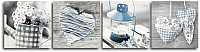 Картина модульная Orlix Винтаж в голубом / CA-00975 -