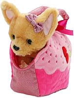 Мягкая игрушка Играем вместе Собака чихуахуа в сумочке Кекс / CT181087-18A -