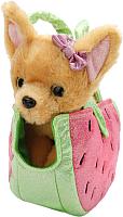 Мягкая игрушка Играем вместе Собака чихуахуа в сумочке Арбуз / CT181084-15R -