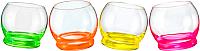 Набор стаканов Bohemia Crystal Crazy 25250/D4904/390-4 (4шт) -