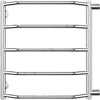 Полотенцесушитель водяной Terminus Виктория П5 400x596 (боковое подключение, м/о 500) -